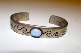 Sterling Lace Agate Relios Carolyn Pollack Bracelet