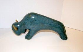 Navajo Jack Black Buffalo Art Pottery