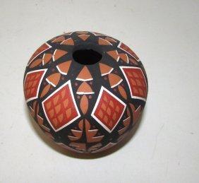 Native American Jemez Pueblo Pottery A. Armijo Seed Pot