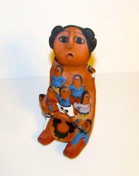 Navajo Vintage Story Teller Figurine