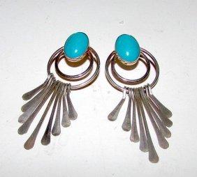 Navajo Sterling Silver Turquoise Earrings