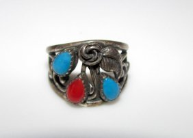 Navajo Old Pawn Native American Sterling Ring 6