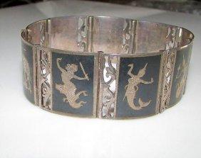 Vintage Sterling Silver 925 Siam Niello Filigree