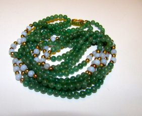 Vintage Green Aventurine Necklace