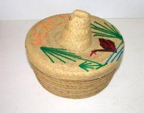 Vintage Mexican Straw Tortilla Warmer