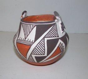 Vintage Acoma Pueblo Friendship Bowl Olla Pottery