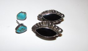 Sterling Taxco And Navajo Earrings Lot