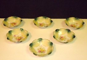 Rs Prussia Berry Bowls. Set Of 6. Marked.
