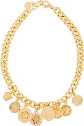 New Versace Medusa Charms Necklace