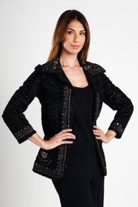 Oscar De La Renta Black Embellished Jacket (0)
