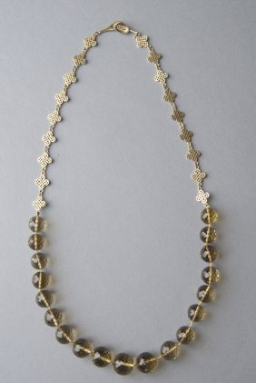 Ray Griffiths 18k Gold & Citrine Necklace