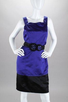 Vera Wang Lavender Purple Beaded Belt Dress (4)
