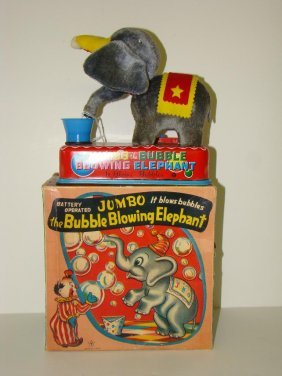 BOXED YONEZAWA JUMBO BUBBLE BLOWING ELEPHANT