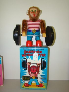 BOXED BATTERY OPERATED CHAMPION WEIGHT LIFTER