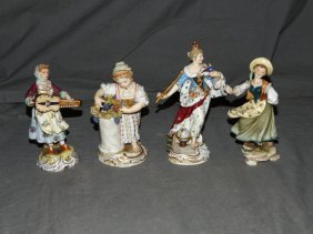 Meissen Lot Of Four Figurines.