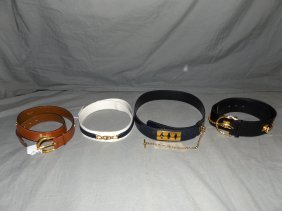 Celine Belts. Lot Of 4