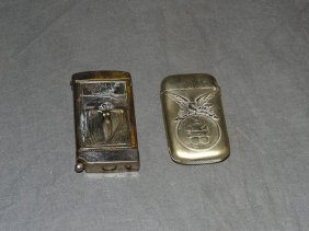 Lot Of Two Exposition Match Safes.