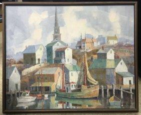 Carl Thorp (1912 - 1989), Seascape Oil On Canvas