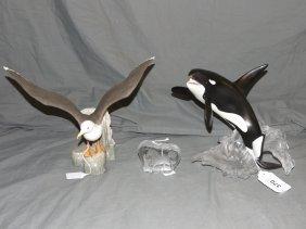 Decorative Franklin Porcelain, German Crystal -