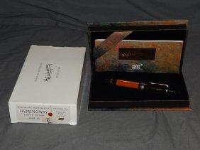 Montblanc Meisterstuck Hemingway Fountain Pen