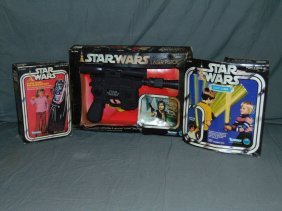 3 Piece Star Wars Toy Lot In Original Boxes