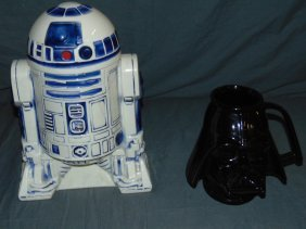 Star Wars R2-d2 Cookie Jar & Darth Vader Mug