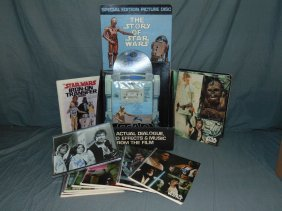 Star Wars Collectible Lot, Notebooks, Records, Etc