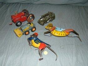 Tin Litho Toy Lot