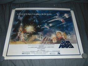 Star Wars 1977 Half Sheet Movie Poster