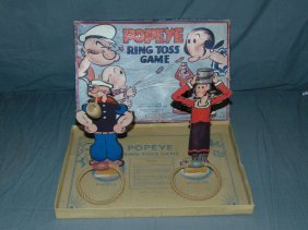 Boxed Popeye Ring Toss Game