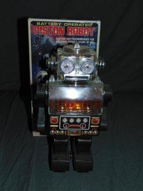 Boxed Battery Op Piston Robot, Sh Japan