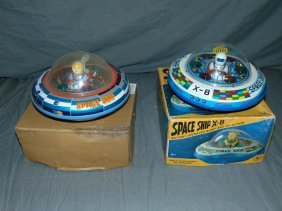 Lot Of 2 Battery Operated Space Ships