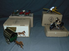 (4) Boxed Tin Lithographed Paya Toys