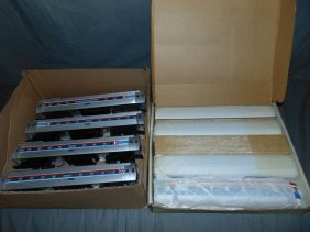 Lot Of 4 Amtrak Metroliner Engines & Cars