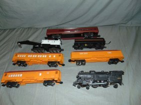 Lionel Steam Engine, Tender, & Passenger Cars