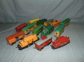 Ives Train Lot, Locos, Pass, & Freight Cars