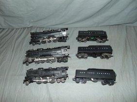 Lot Of Lionel Steam Locomotives & Tenders