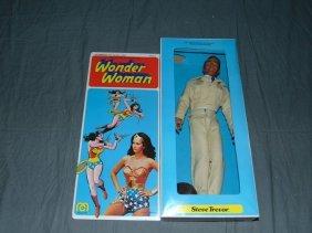 """1976 Mib Mego Wonder Woman Steve Trevor 12"""""""