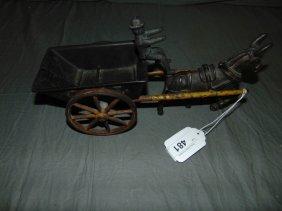 Cast Iron Kenton Coal Cart With Donkey