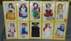 Large Box Lot Of Effanbee Dolls