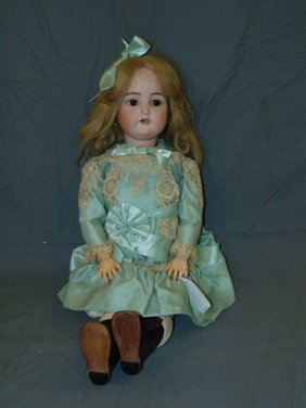 "German Majestic 27"" Bisque Head Doll"