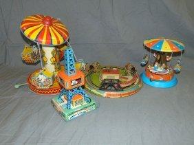 Windup Tin Litho Toys, Parts Lot