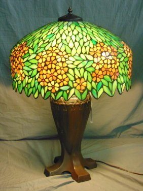 Handel Stained Glass Table Lamp