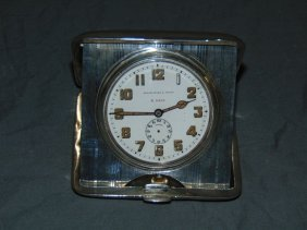 Black Starr & Frost Sterling Travel Clock