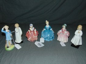 Royal Doulton Figurines. Lot Of 6.