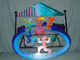 """Calman Shemi, """"circus"""" Metal Wall Sculpture"""