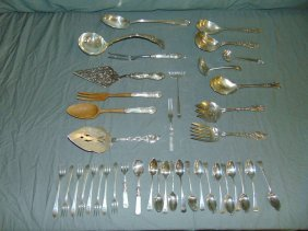 Miscellaneous Lot Of Silver Flatware Pieces