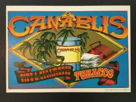 1967 Rick Griffin Head Shop Poster Canablis