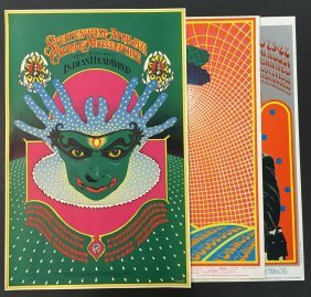 (3) 1967 Family Dog Bob Fried Concert Posters