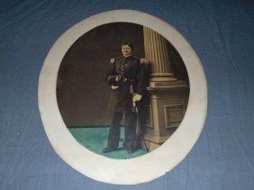 Hand Tinted Civil War Photo.
